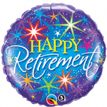 "Retirement Bursts Foil Balloon (18"") 1pc"